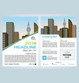 flyer corporate business with city vector image vector image