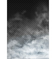fog and smoke set isolated on transparent vector image vector image