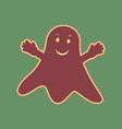 ghost sign cordovan icon and mellow vector image vector image