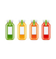 glass juice bottles vector image