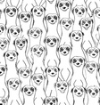 Graphic Seamless Pattern Of Smiling Meerkats vector image