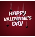 Happy Valentines Day Cupid shoots bullets of vector image vector image