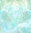 ice blue polygonal triangular pattern background vector image vector image