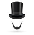 Invisible man in top hat vector image vector image