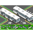 Isometric Bus in Front View vector image vector image