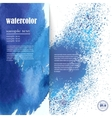 layout for text with an abstract blue watercolor vector image vector image