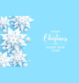 light blue snowflakes card vector image vector image