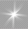 light rays flash effect of sun star shine radiance vector image vector image