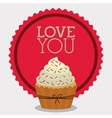 love you card design vector image