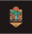 lower falls yellowstone national park patch vector image vector image