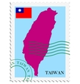 mail to-from Taiwan vector image vector image