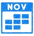 November Calendar Grid Grainy Texture Icon vector image vector image