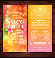 orange save the date for wedding stationery vector image vector image
