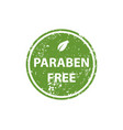 paraben free stamp texture rubber cliche imprint vector image
