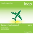 plane business background vector image
