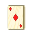 Playing card diamonds icon cartoon style vector image vector image