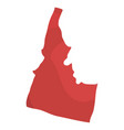 political map of the state of idaho vector image
