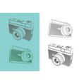 retro film camera vector image vector image