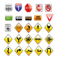 road signs set vector image vector image