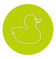 rubber ducks isolated icon vector image vector image