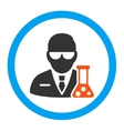 Scientist Rounded Icon vector image vector image