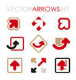 set flat arrows for branding and icons vector image
