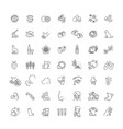 set line icons allergy vector image vector image