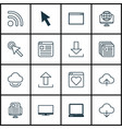 set of 16 web icons includes send data wifi vector image vector image