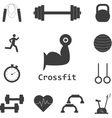 Set of Crossfit Icons Sport fitness gym vector image