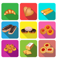 set of icons on a theme cake baking vector image vector image