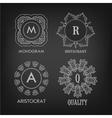 Set of luxury simple and elegant monogram designs vector image