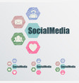 Sign social networks and the internet vector image