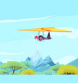 skydiving sport gliding poster vector image