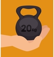 sport fitness healthy life design isolated vector image vector image