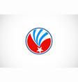 star america flag logo vector image