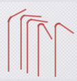 straw for beverage drinking straws of red color vector image vector image