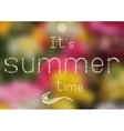 Summer print - summer time vector image