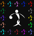 Summer sports basketball icon sign Lots of vector image vector image