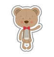 teddy bear character icon image vector image vector image