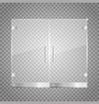 transparent glass door vector image vector image