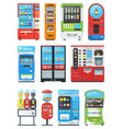 vending machine vend food or beverages with vector image
