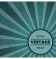Vintage sunburst advertisement template vector image