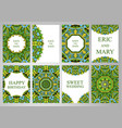 wedding set postcards backgrounds invitations in vector image