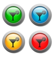 Wine glass simple icon on buttons set vector image vector image
