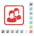 women icon rubber watermark vector image vector image