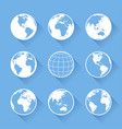 world globe icons vector image vector image