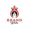 writer king logo design vector image