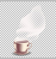 coffee with translucent vapor vector image