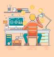 business man working online vector image