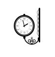 clock antique black vector image